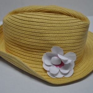 Girl's Wicker Straw Hat with Flower Gymboree NWT